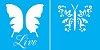 ESTENCIL 14X14 BORBOLETA LIVE DUPLO OPA 1372 - Imagem 1