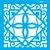 ESTENCIL 14X14 LADRILHO LANCA II OPA2435 - Imagem 1