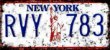 Placa Decorativa New York 15x30 - Imagem 1