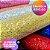 Lonita Telada Flocada  24x40cm tecido Glitter para laços chinelos bolsas - Imagem 3