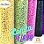Lonita Telada Flocada  24x40cm tecido Glitter para laços chinelos bolsas - Imagem 2