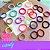 Elástico para cabelo Xuxinha rabicó tamanho médio Pct 100unidades Candy Neon - Imagem 6