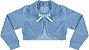 Casaco Infantil Plush Redondo c/ Gola Azul - Imagem 1