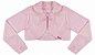 Casaco Infantil Plush Redondo c/ Gola Rosê - Imagem 1