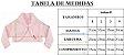 Casaco Infantil de Pele Redonda c/ Bordado Rosa - Imagem 2