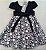 Vestido Infantil Casual Saia Estampa Bola - Imagem 3