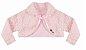 Vestido Infantil Básico Barrado Urso com bolero de pelo - Imagem 3