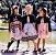 Vestido Infantil Casual Zigzag com bolero de pelo - Imagem 4