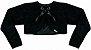 Vestido Infantil Casual Zigzag com bolero de pelo - Imagem 5