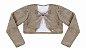 Vestido Infantil Básico c/ Estampa Listrada com Bolero de Pelo - Imagem 4