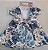 Vestido Infantil Casual Estampado c/ Gola Perola com Bolero de Pelo - Imagem 5