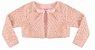 Vestido Infantil Casual c/ Peito Bordado Rosas com Bolero de Pelo - Imagem 3