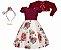 Vestido Infantil Chic c/ Peito de Renda com Casaco de Pelo - Imagem 1