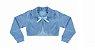 Vestido Infantil Casual c/ Barrado Gaiola com bolero de plush - Imagem 3