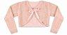 Vestido Infantil Chic c/ Bordado no Peito com Bolero de Pelo - Imagem 3