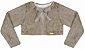 Vestido Infantil Chic c/ Peito Bordado e com Bolero de Pelo - Imagem 3