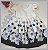 Vestido Infantil com barrado de flores e bolas - Imagem 3