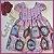 Vestido Infantil quadros e rosas - Imagem 3