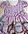 Vestido Infantil quadros e rosas - Imagem 4