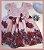 Vestido Infantil com barrado de rosas - Imagem 1