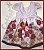 Vestido Infantil saia de rosas - Imagem 1