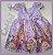 Vestido Infantil Lilá Floral - Imagem 3
