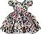 Vestido Infantil Chic Estampa de Onça - Imagem 1
