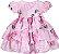 Vestido Infantil Estampa rosas - Imagem 1