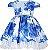 Vestido infantil estampado azul - Imagem 1