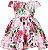 Vestido Infantil com estampa de flores - Imagem 1