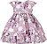 Vestido Infantil poá com estampa de rosas - Imagem 1