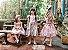 Vestido Infantil Nude com Flores no Peito - Imagem 3