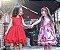 Vestido Teen Vermelho Chic Liso c/ Cinto de Perolas - Imagem 2