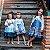 Vestido Juvenil Azul com Barrado de Flores - Imagem 3