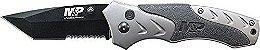 Canivete Tático Militar Smith & Wesson SWMP7TSCP Abertura Simplificada Lâmina Lisa e Serrilhada e Bloqueio por Botão - Imagem 3