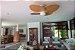 Ventilador de Teto Personalizado Aruba - 4 pás Fibra Olho D'Água Natural - Luminária Flat Opalino - Imagem 2