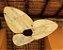 Ventilador de Teto Personalizado Maresias - 3 pás Fibra de Coco - Sem Iluminação (tampa reta) - Imagem 2
