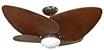 Ventilador de Teto Personalizado Maresias - 4 pás Madeira Imbuia - Luminária Flat Opalino - Imagem 1