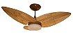 Ventilador de Teto Personalizado Maresias - 3 pás Fibra de Coco - Luminária Drops Opalino - Imagem 1