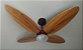 Ventilador de Teto Personalizado Surf - 4 Pás Madeira - Luminária Flat Jateado - Imagem 1