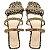 Rasteira Balaia MOD499 em Animal Print Dourado - Imagem 1
