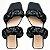 Rasteira Balaia MOD450 em couro preto - Imagem 1