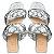 Rasteira Balaia MOD450 em couro Metal Prata - Imagem 1
