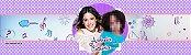 Rótulo água Violetta da Disney com foto - Imagem 1