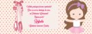 Convite personalizado para evento no facebook Bailarina - Imagem 1