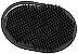 SANTA CLARA Escova para Barbeiro Plástica Oval Preta (4867) - Imagem 1