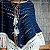 Poncho de crochê duas cores - azul - Imagem 2