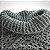 Poncho de crochê duas cores com gola - Imagem 3