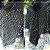Poncho de crochê duas cores com gola - Imagem 4