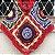 Poncho de crochê colorido com gola - Imagem 4